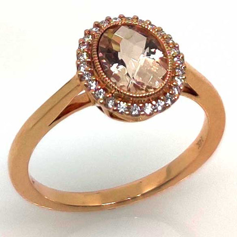 Rose Gold & Morganite Ring