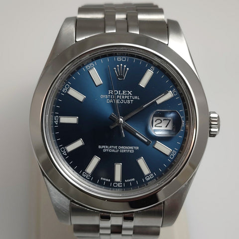 Blue Dial Rolex Datejust 41