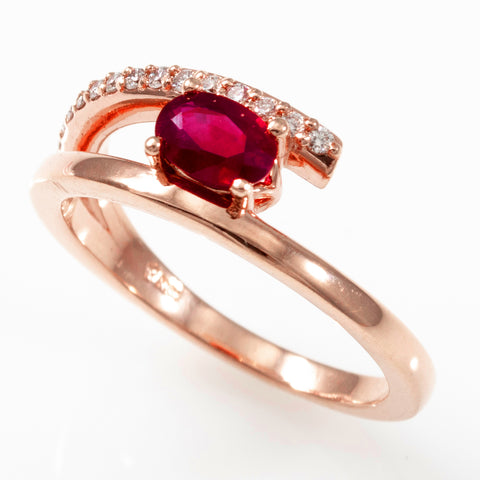 Rose Gold Ruby & Diamonds