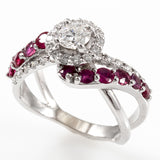 Ruby & Diamonds White Gold Ring