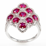 18k Ruby & Diamonds WG