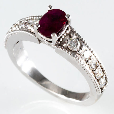 Ruby & Diamonds Custom Ring