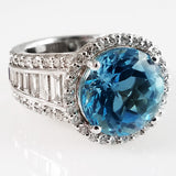 Sky Blue Topaz Custom Ring