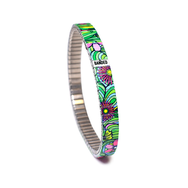 Squiggle Flower Pop Slim- Jungle 6mm Ultra Slim