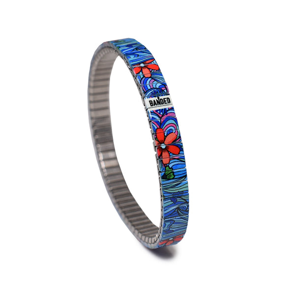 Squiggle Flower Pop Slim- Blues 6mm Ultra Slim
