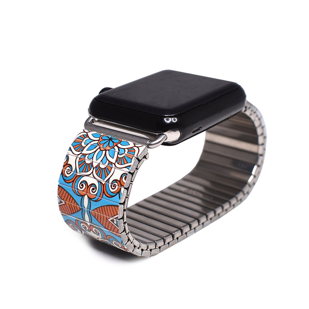 Mediterranean Tiles- St.Tropez Applewatch by Banded Berlin Bracelets Fall 2020 Collection
