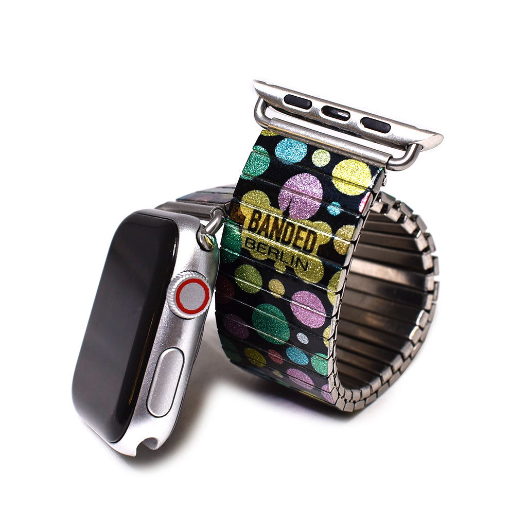 Bubble kaleidoscope Apple watch band by Banded berlin Bracelets handmade in Berlin, Germany