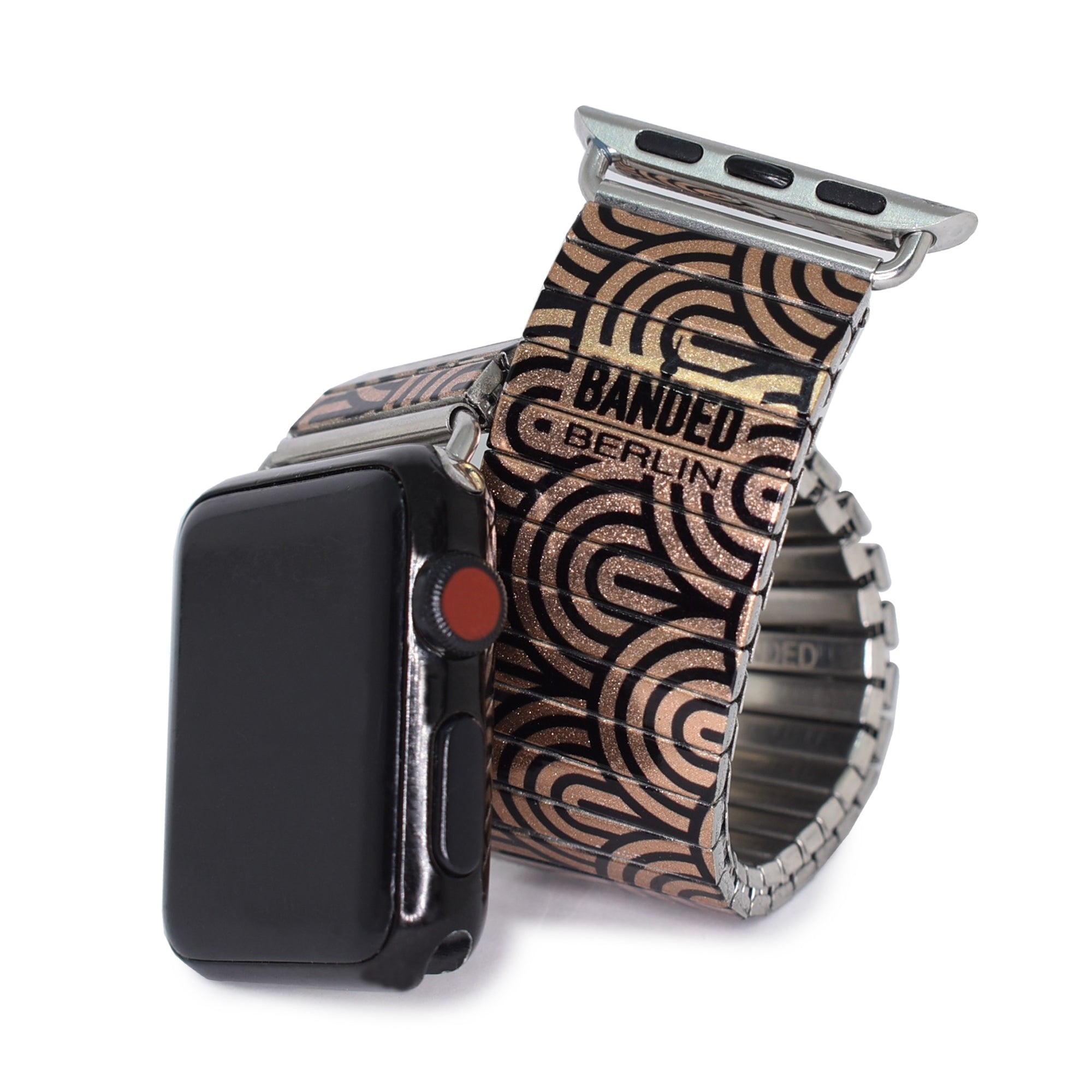 Copper MonoChrome Rainbow Banded Apple watch band