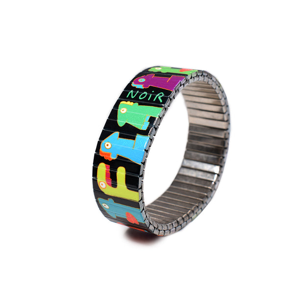 """Banded Berlin Artist Series""  -Featuring Berlin Wall Muralist - Old School Street Artist Thierry Noir  -Numbered-Limited Edition Bracelets  -of 1000 pieces"
