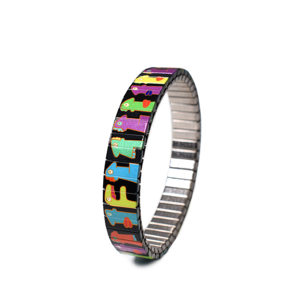 Faces Noir Slim - Banded Berlin Artist Series  Featuring Berlin Wall Muralist and street Artist Thierry Noir  Numbered-Limited Edition Bracelets  of 1000 pieces. Hand Crafted in Berlin, Germany