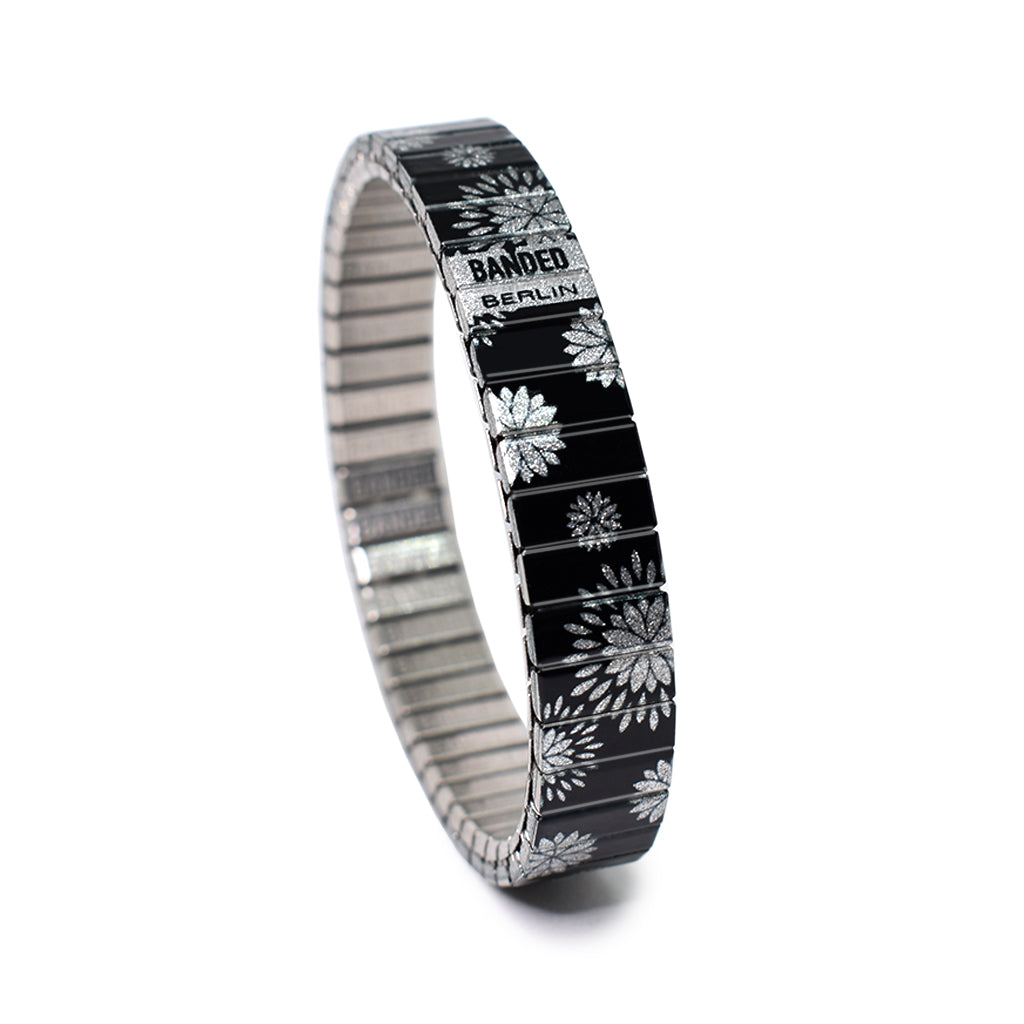 Flora Pop silver 10mm Slim Metallic Finish by Banded Berlin Bracelets