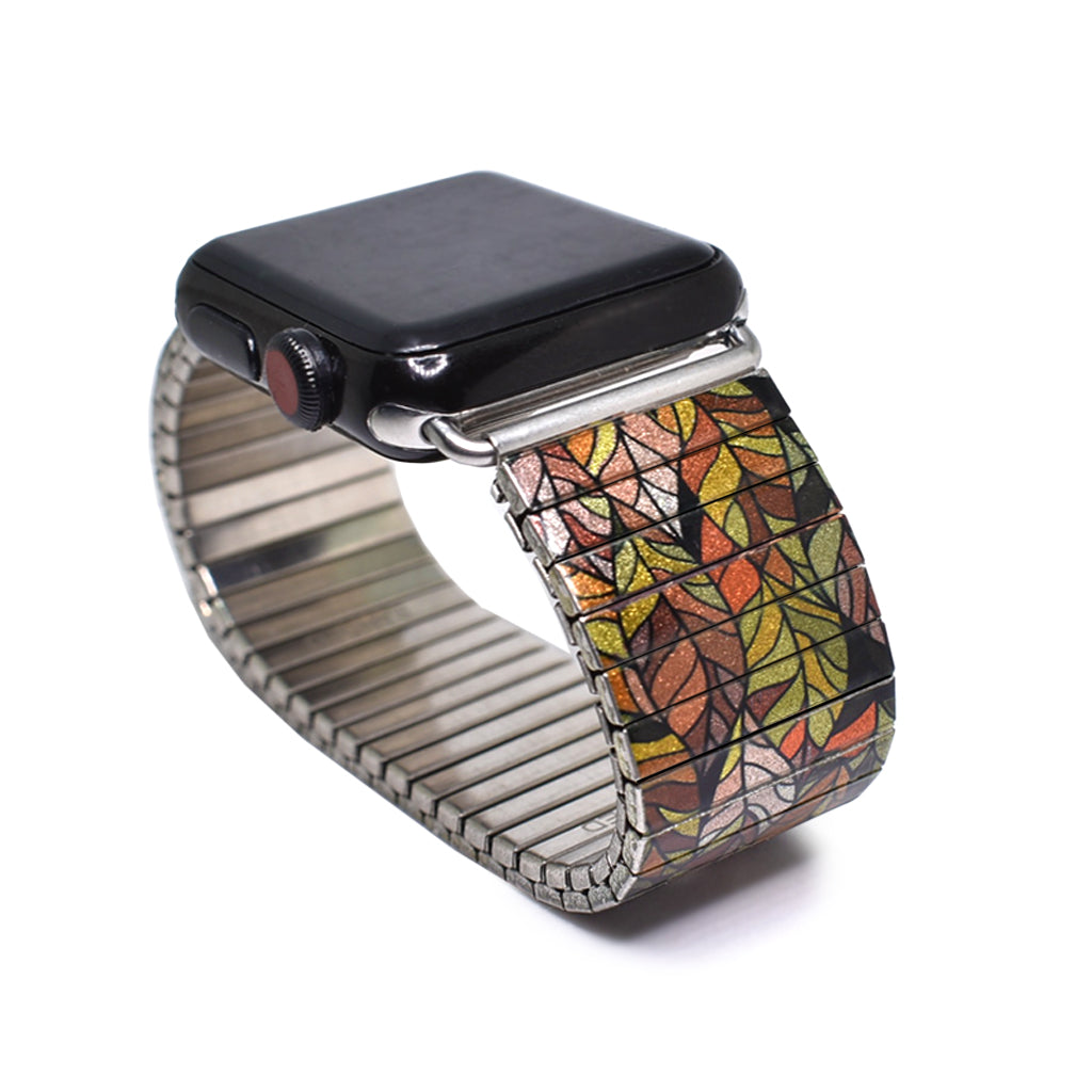 Golden Stained Glass Leaf - Apple watch band © 2020, banded berlin