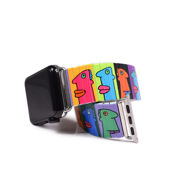 Mauerblick Bright Applewatch Banded by Thierry Noir