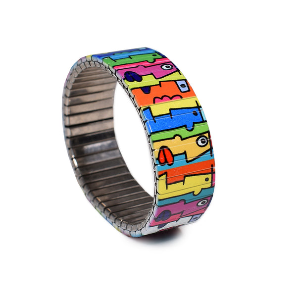 """Banded Berlin Artist Series"" Multi Kulti - Featuring Berlin Wall Muralist & Old School Street Artist Thierry Noir -Numbered-Limited Edition Bracelets -of 1000 pieces"