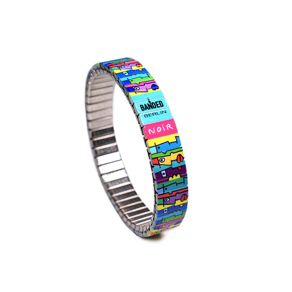 Banded Berlin Artist Series - Multi kulti slim  -Featuring Berlin Wall Muralist Artist Thierry Noir  -Numbered-Limited Edition Bracelets  -of 1000 pieces