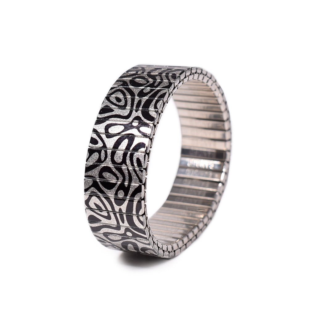 Oil Noir in Metallic. Sheer gorgeousness in an 18mm width. This stainless steel beauty has been a stalwart in our collection for a fortnight or two.. now available in metallic. by Banded Berlin Bracelets 2020