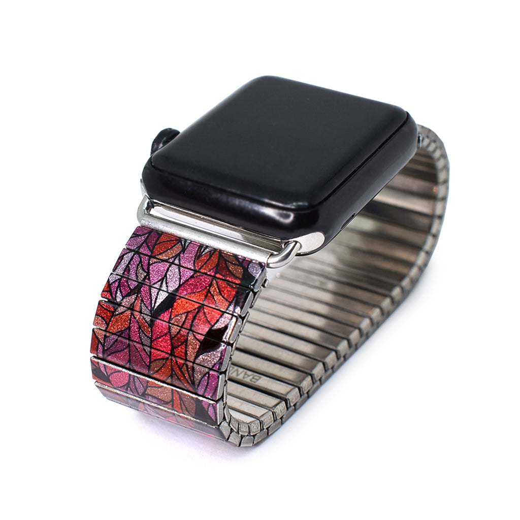Rosa Stained Glass Leaf  - Apple watch band