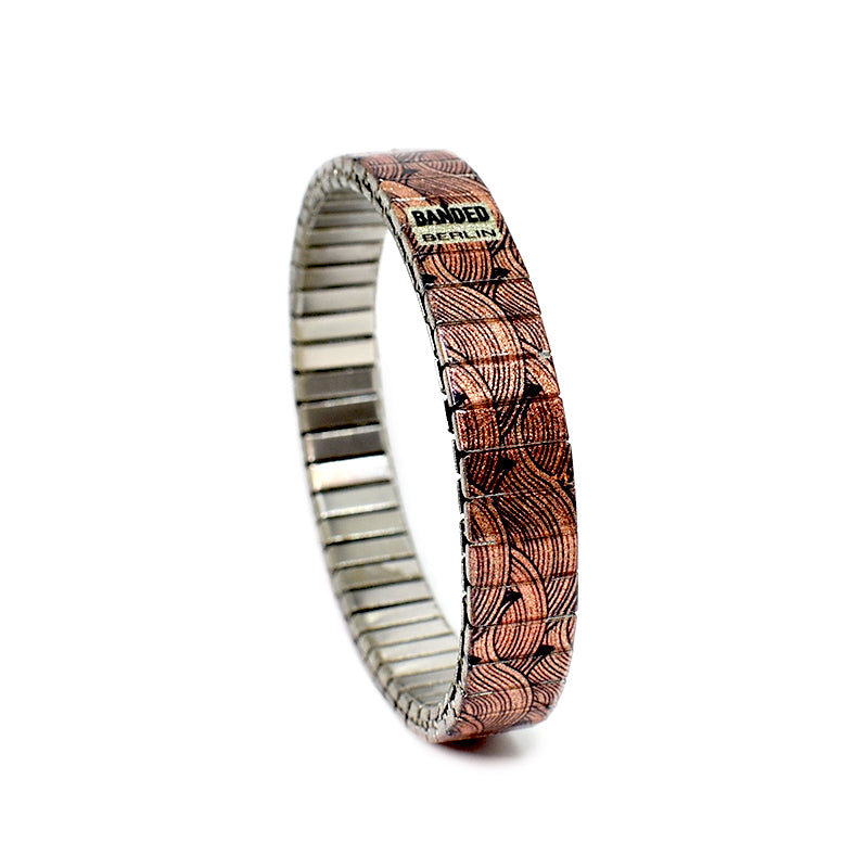 Copper Nazarene 10mm Slim   Banded Berlin 10mm Slim Collection For 2020. A metallic copper colored version of our Japanese woodblock inspired wave design.