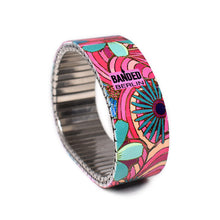 Lade das Bild in den Galerie-Viewer, Squiggle-Flower- Pop- Tropicali 23mm by Banded-Berlin bracelets made in Berlin Germany