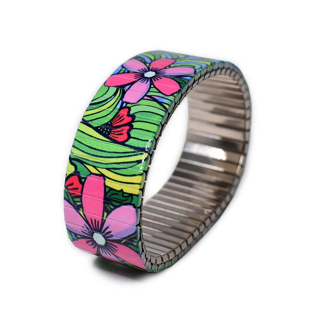 Squiggle-Flower- Pop- Jungle 23mm by Banded-Berlin Bracelets- Made in Germany