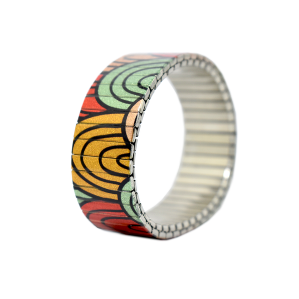 Banded Berlin bracelets Sunset Moonbows