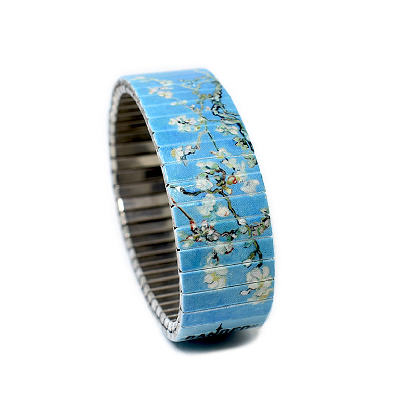 Almond  Blossoms by Van Gogh -Banded Berlin Bracelets- Made in Berlin, Germany