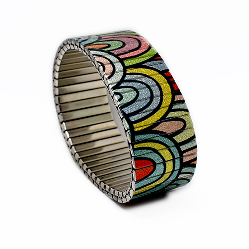 Banded Berlin - Full Spectrum - multi coloured rainbow fantasies in a 23mm width style © 2020, banded berlin