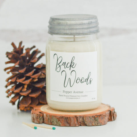 Back Woods 16 oz candle