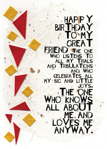 BD140 My Great Friend (Pack of 6 cards)