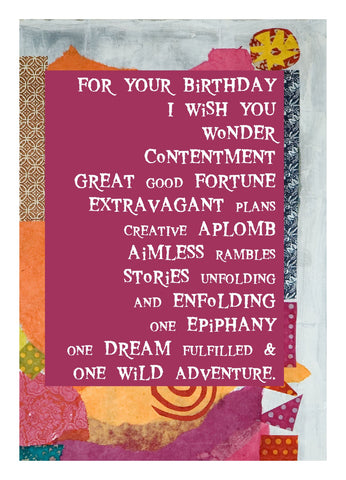 BD141 I Wish You (Pack of 6 cards)
