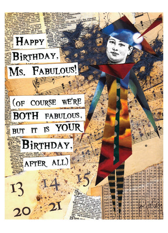 BD145 Ms. Fabulous (Pack of 6 cards)