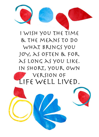 BD148 Life Well Lived (Pack of 6 cards)