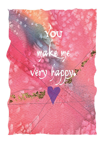 L572 Happy (Pack of 6 cards)