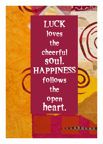NM824 Luck Loves (Pack of 6 cards)