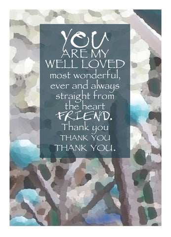 NM898 Well Loved Friend (Pack of 6 cards)