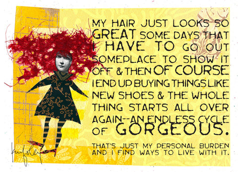 NM917 My Hair (Pack of 6 cards)