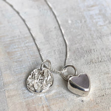 Load image into Gallery viewer, Lavender Sea Glass & Silver Charm Necklace
