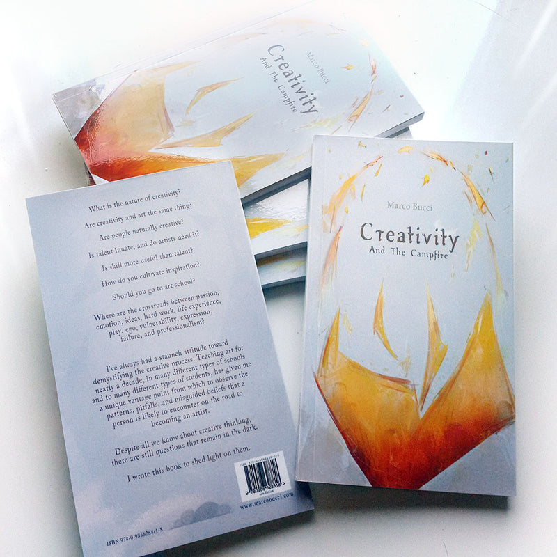 Creativity And The Campfire - a discussion of the psychology of creativity Book - Marco Bucci Art Store