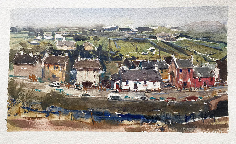 Doolin, Ireland - Watercolour Painting - Marco Bucci Art Store