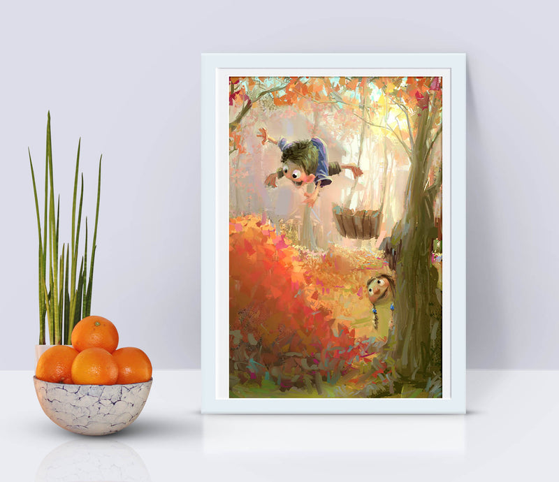 Fall Leaves Print - Marco Bucci Art Store