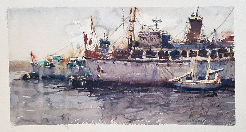 Halifax Boats - Watercolour