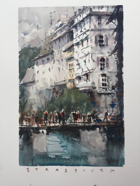 Watercolor In: Strasbourg Workshop - Marco Bucci Art Store