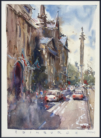 Sketchbook - 'Edinburgh' Print - Marco Bucci Art Store