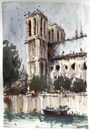 Notre Dame Cathedral - Watercolour Painting - Marco Bucci Art Store