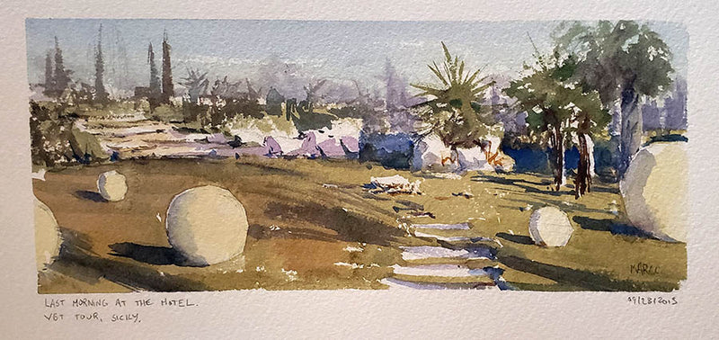 Sicily - Watercolour