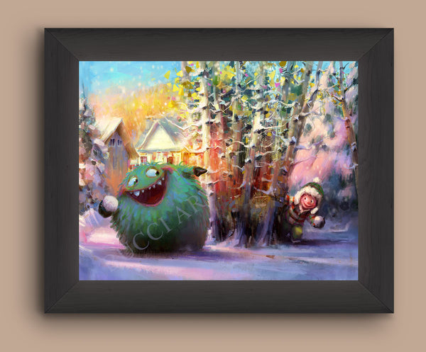Snowball Fight Print - Marco Bucci Art Store