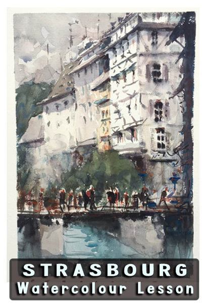 Strasbourg: Watercolour Lesson Workshop - Marco Bucci Art Store