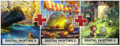 Triple Pack - Digital Painting 1, 2 & 3 Workshop - Marco Bucci Art Store