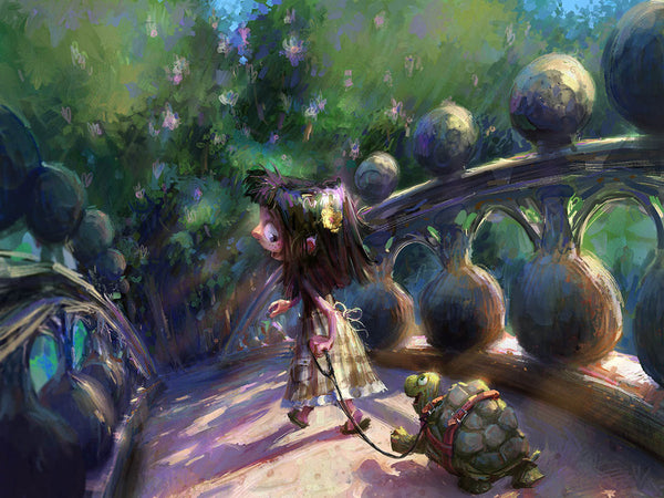 Turtles Need Walks Too Print - Marco Bucci Art Store