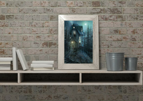 Night House Print - Marco Bucci Art Store